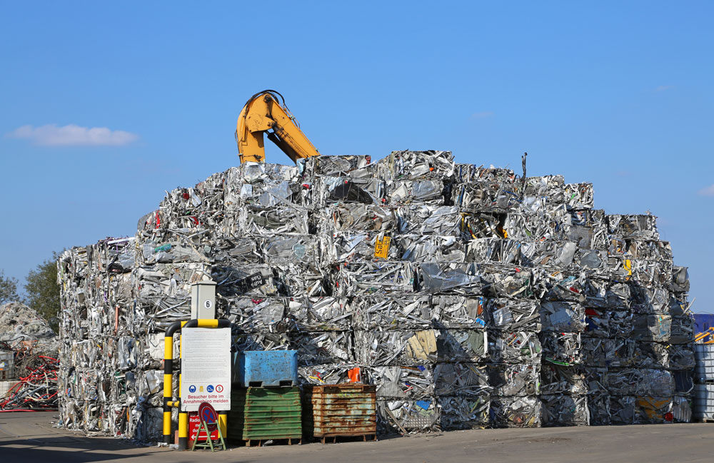 Material at recycling center
